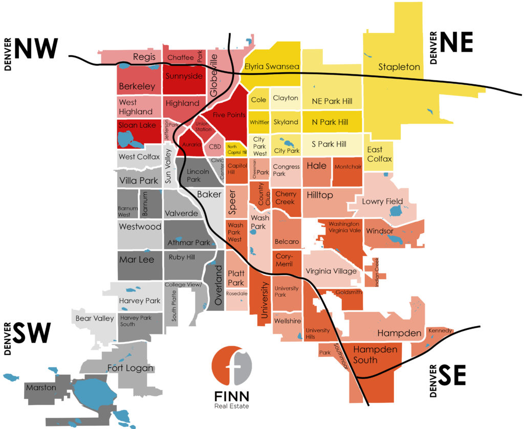 Denver Neighborhood Map Finn Real Estate